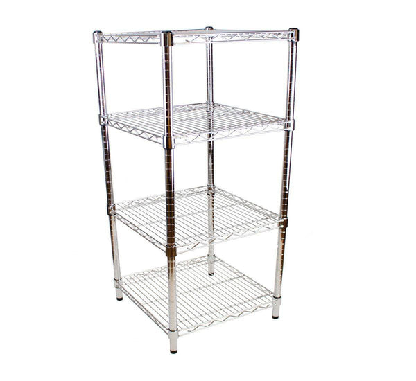 61 x 61cm square chrome shelving unit