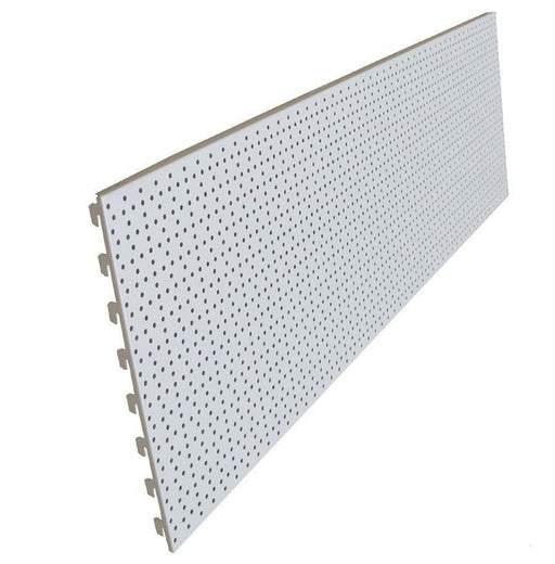 Back Panels, Perforated / Peg, Ivory White - 125cm wide