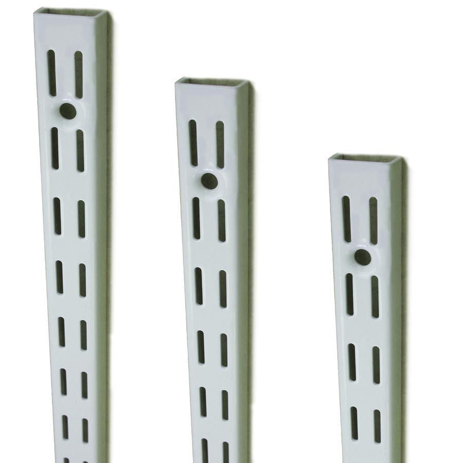 White Twinslot Uprights