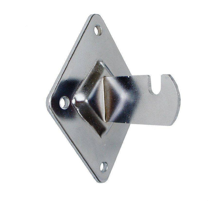 Wall-Fixing Bracket for Grid Panel, Chrome
