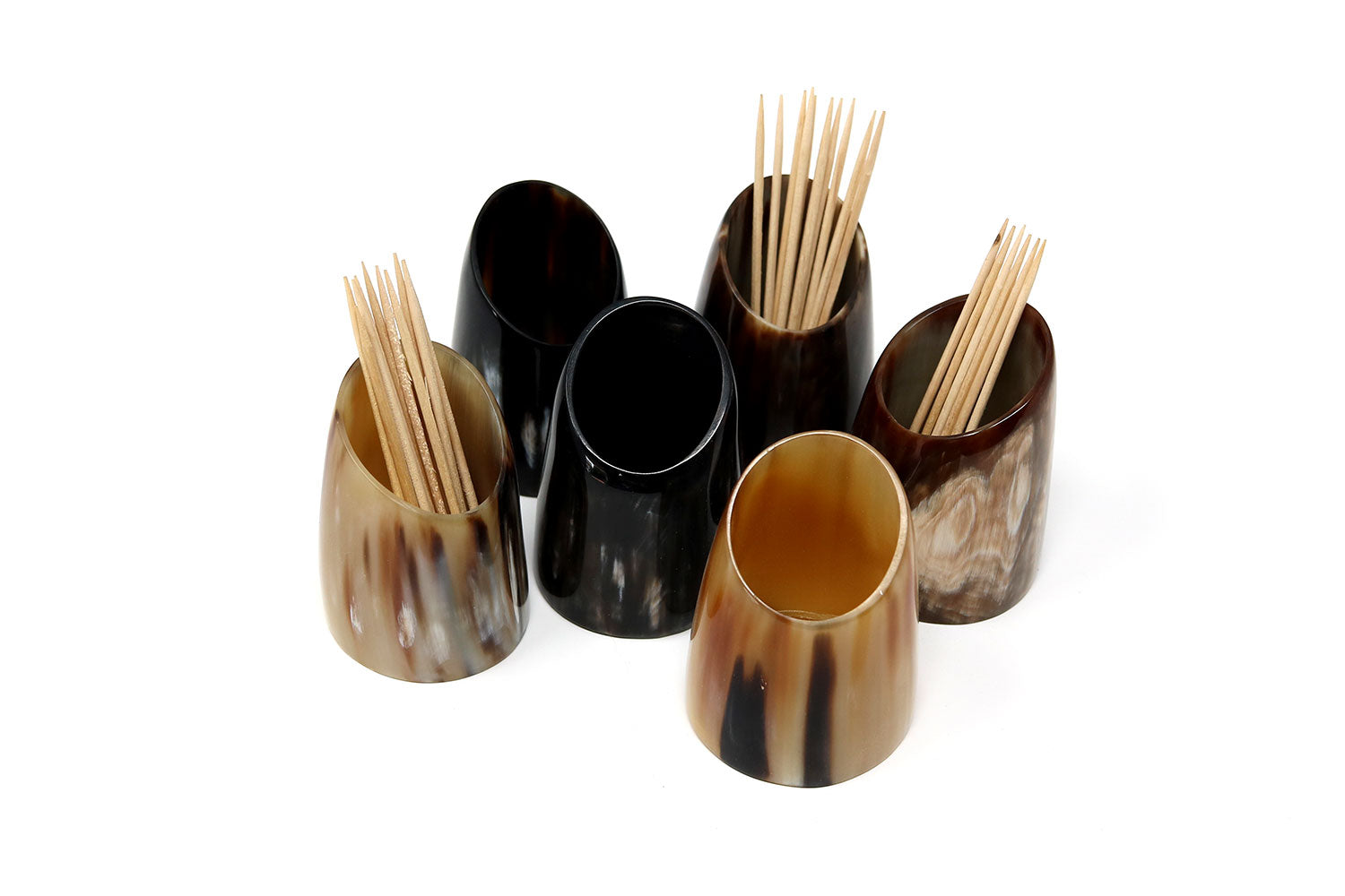 Ankole Cow Horn Toothpick Holders