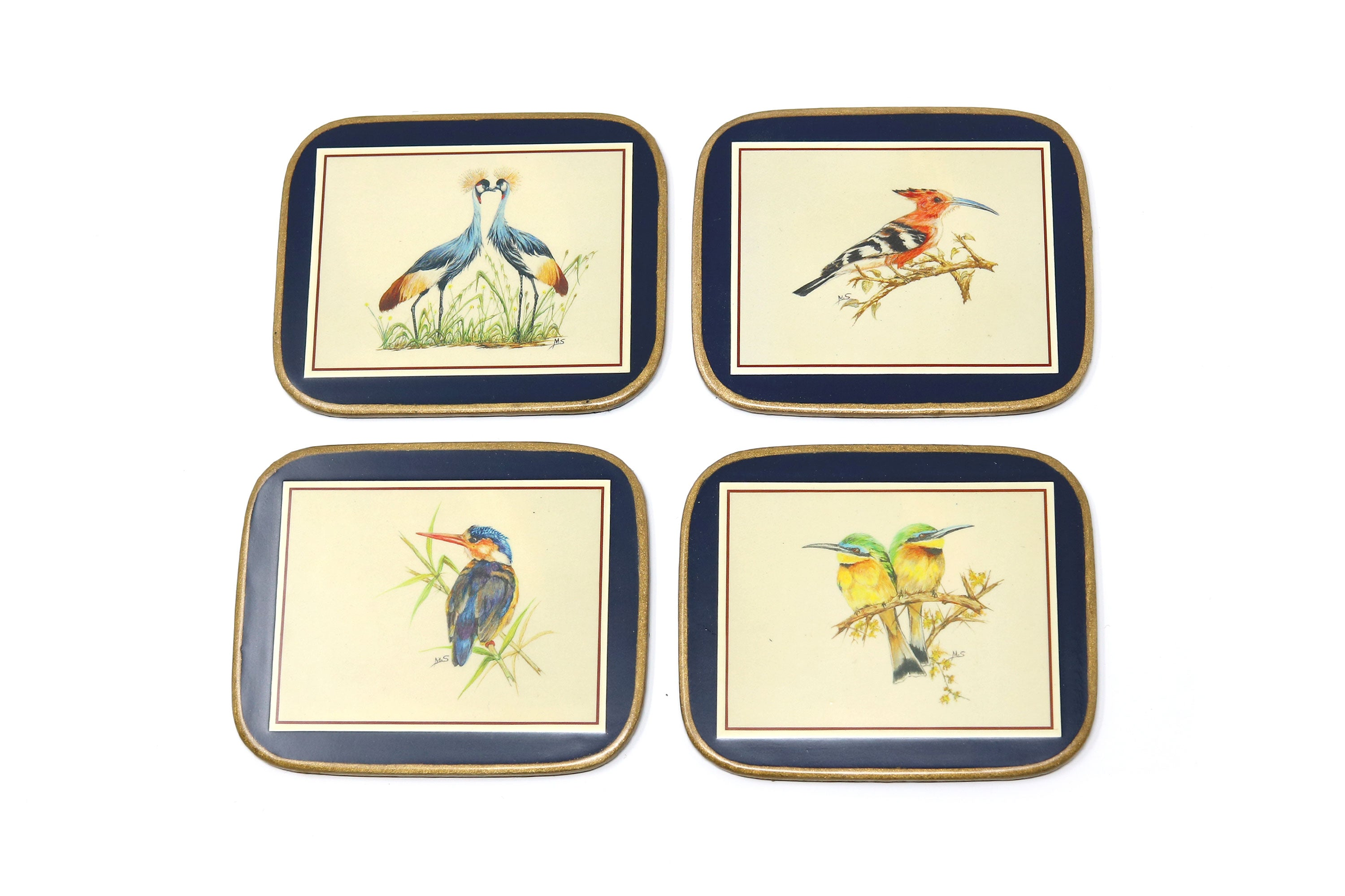 Coasters, African Birds, Set of 4