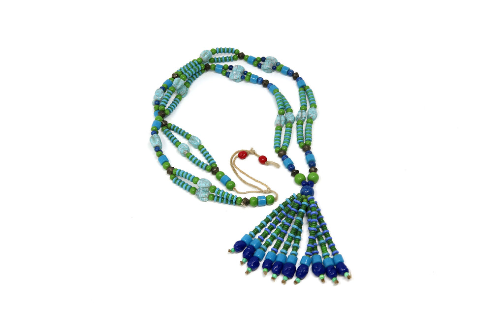 Original Turquoise, Lapiz and Malachite Necklace