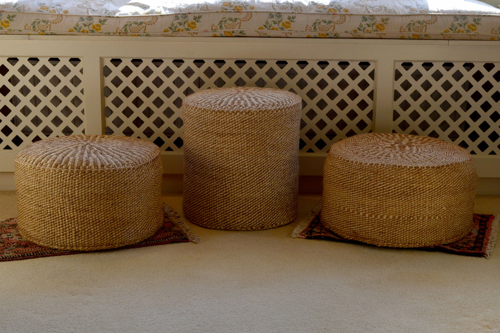 Sisal Stools, Oatmeal Fleck, in various sizes