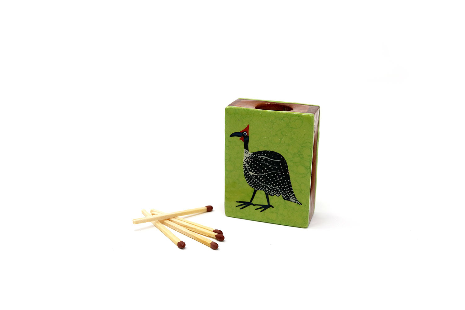 Small Matchbox Cover, Guineafowl, various colours - ASSiA