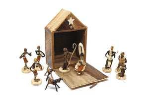Sisal and Banana Fibre Box containing Nativity Set