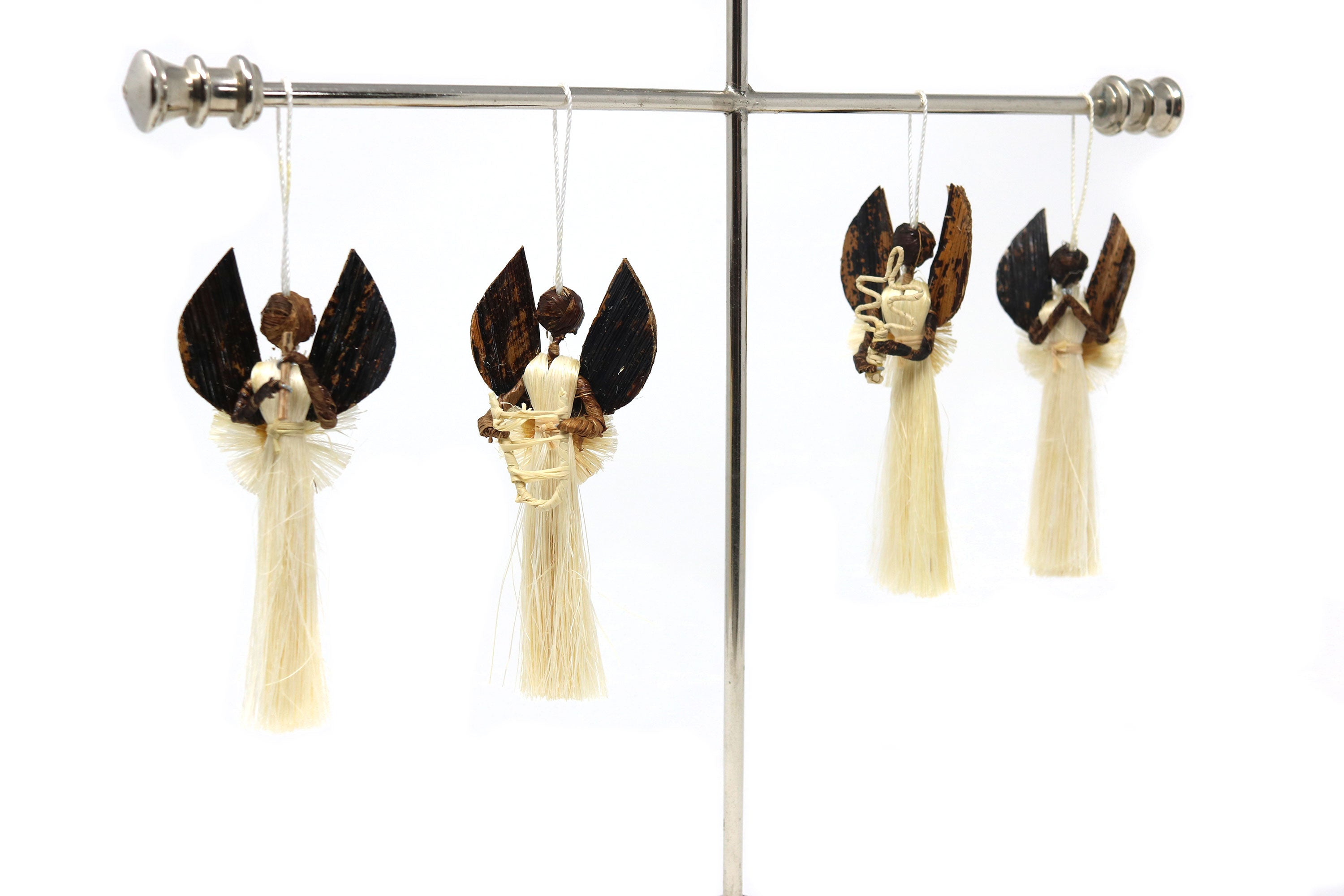 Set of 4 Different Sisal Angel Musicians