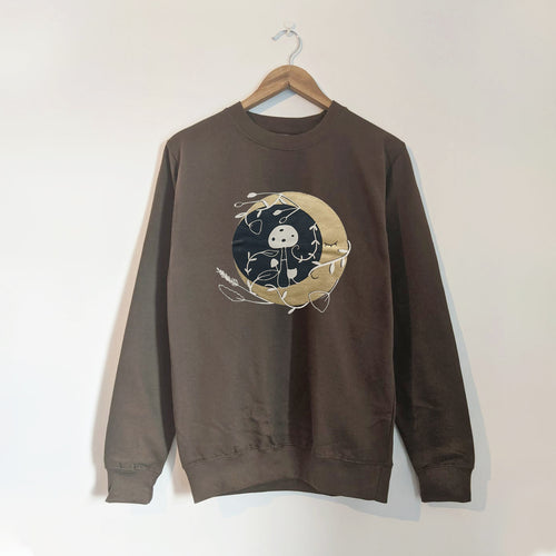 MYSTIC MOON ADULT SWEATSHIRT IN OLIVE