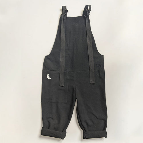 BLACK MOON PRINT KIDS DUNGAREES