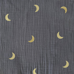 DUSTY BLUE AND GOLD MOON ADULT DUNGAREES