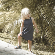 Load image into Gallery viewer, NAVY KIDS SHORT DUNGAREES