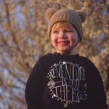 Load image into Gallery viewer, ADVENTURE IS OUT THERE KIDS SWEATSHIRT IN NAVY