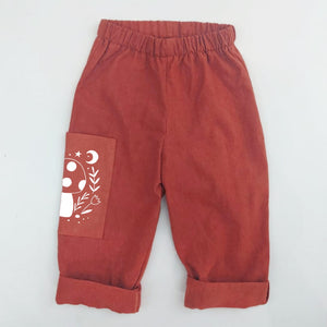 TOADSTOOL PRINT TROUSERS IN BRICK