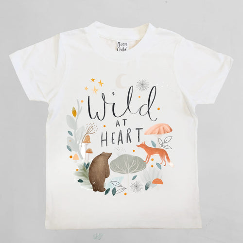 WILD AT HEART KIDS TEE IN WHITE