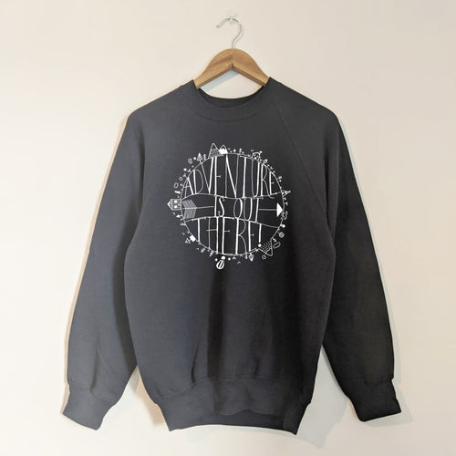 ADVENTURE IS OUT THERE ADULT SWEATSHIRT IN NAVY