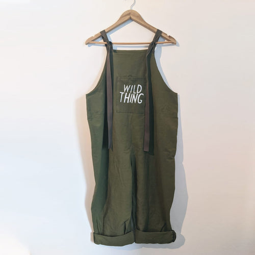 WILD THING ADULT DUNGAREES IN OLIVE