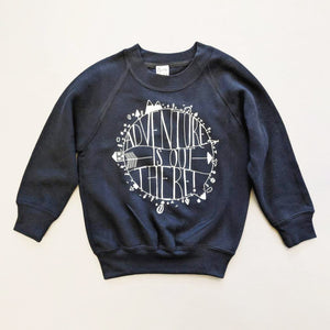 ADVENTURE IS OUT THERE KIDS SWEATSHIRT IN NAVY