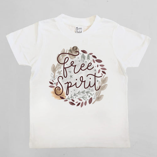FREE SPIRIT KIDS TEE IN WHITE