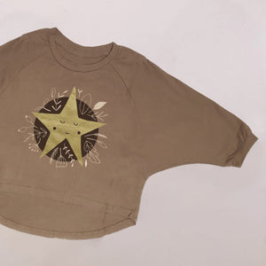 WILD STAR OVERSIZED TEE IN CARAMEL