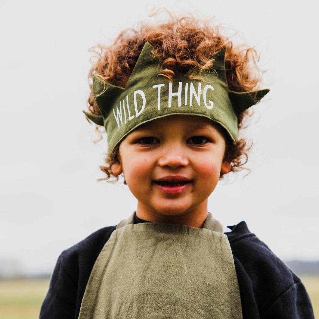 OLIVE 'WILD THING' FABRIC CROWN