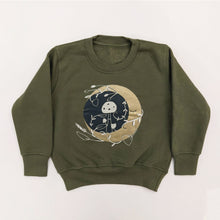 Load image into Gallery viewer, MYSTIC MOON KIDS SWEATSHIRT IN OLIVE