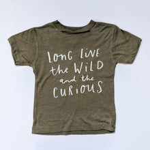 Load image into Gallery viewer, LONG LIVE THE WILD ONES KIDS TEE IN OLIVE