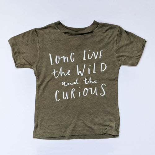 LONG LIVE THE WILD ONES ADULT TEE IN OLIVE
