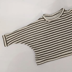CARAMEL STRIPE OVERSIZED KIDS SWEATSHIRT