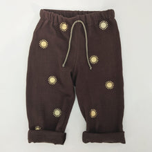 Load image into Gallery viewer, BROWN AND GOLD SUN TROUSERS