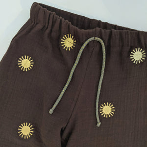 BROWN AND GOLD SUN TROUSERS