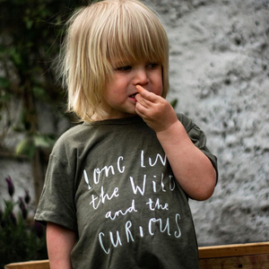 LONG LIVE THE WILD ONES KIDS TEE IN OLIVE