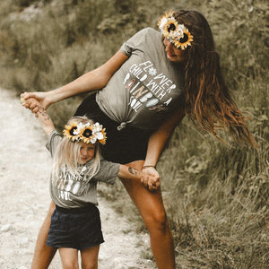 FLOWER CHILD ADULT TEE IN OLIVE