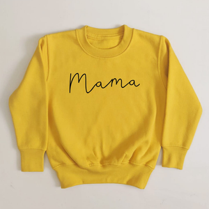 MAMA SWEATSHIRT WITH MULTIPLE COLOUR OPTIONS