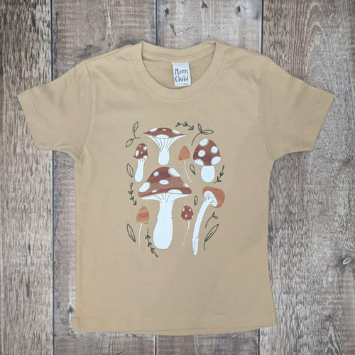 TOADSTOOL ADULT TEE IN SAND