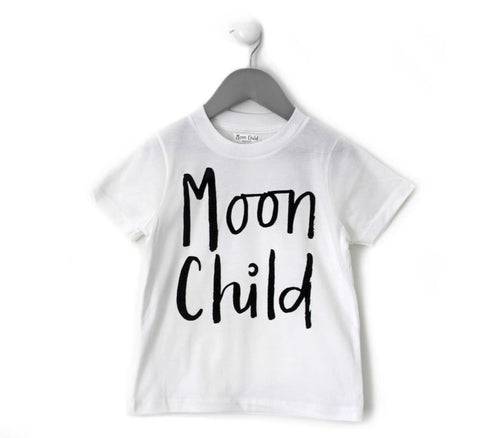 WHITE 'MOON CHILD' ADULT TEE