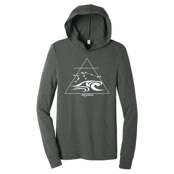 Aquarius Hooded Long Sleeve Shirt