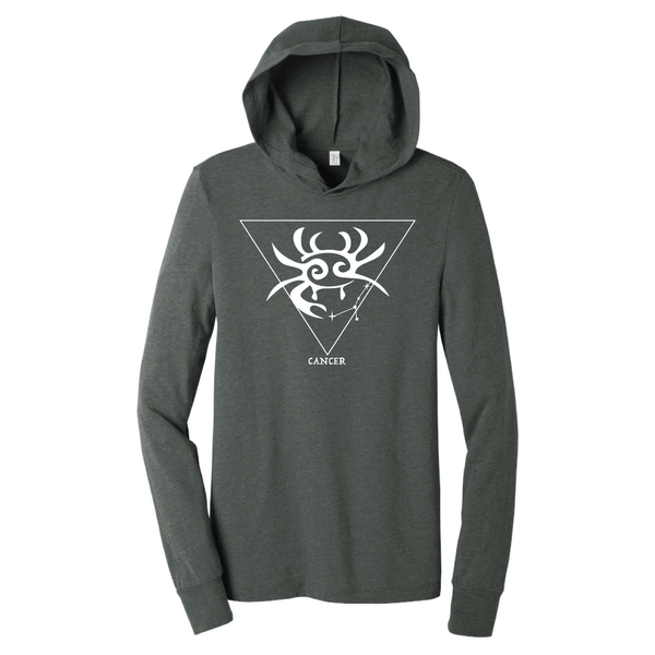 Cancer Hooded Long Sleeve Shirt