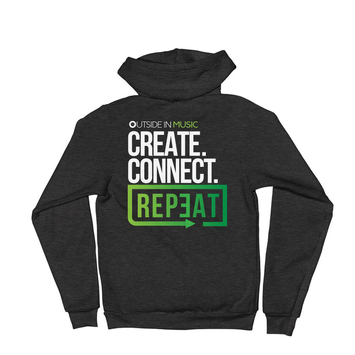 Create Connect Repeat Zip-up Hoodie sweater