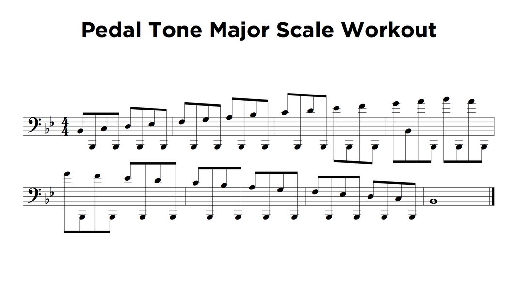 Pedal Scale Workout PDF - Free!