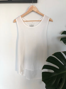 White Organic Cotton Singlet