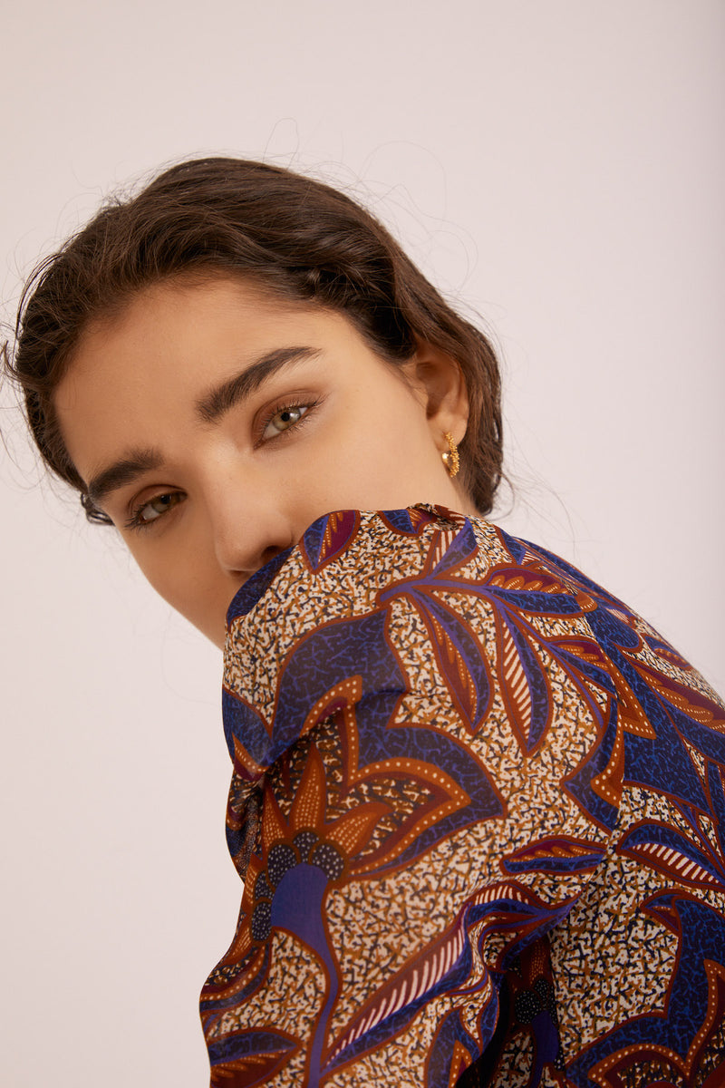 Bella Top, Masai Print