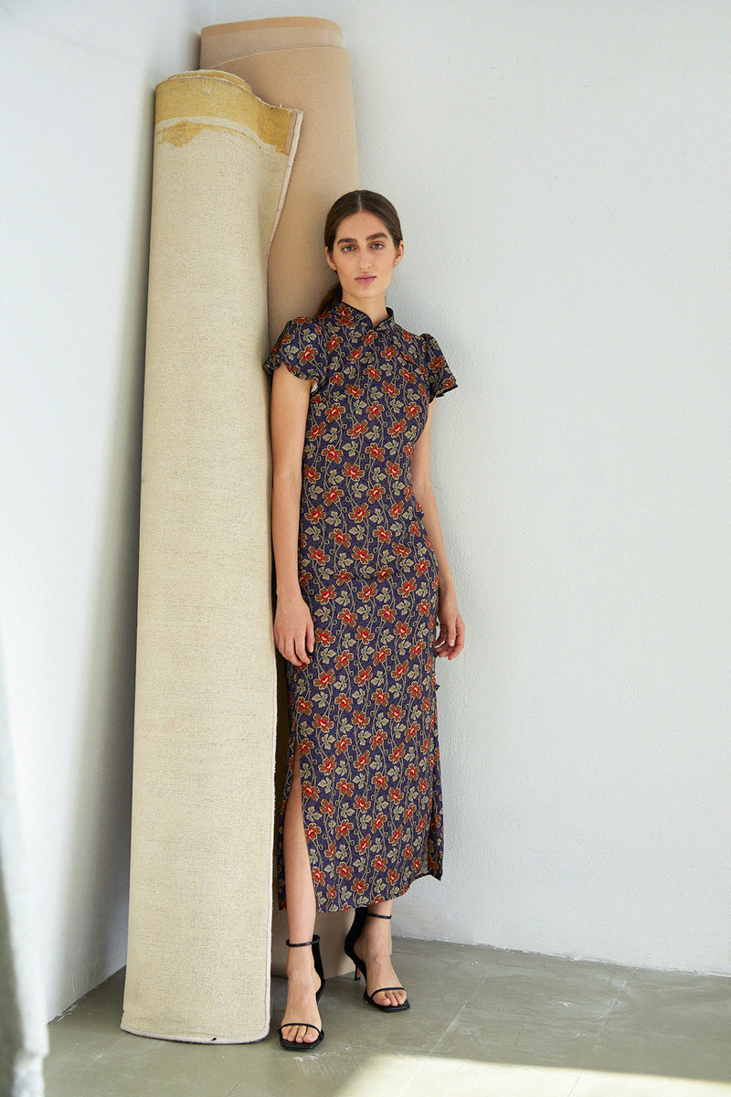Pekin Dress, Amapola Print