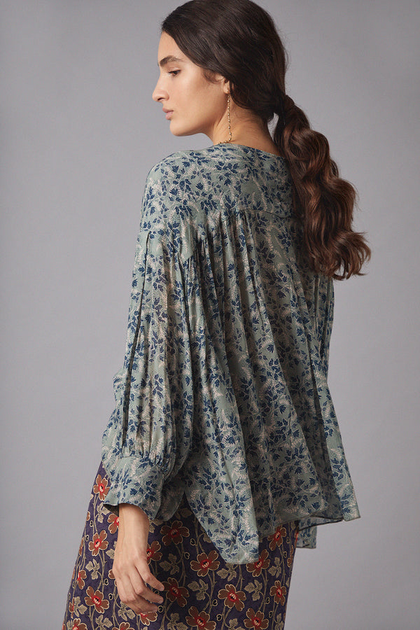 Nala Blouse, Leaves Print