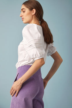 Louise Blouse, White