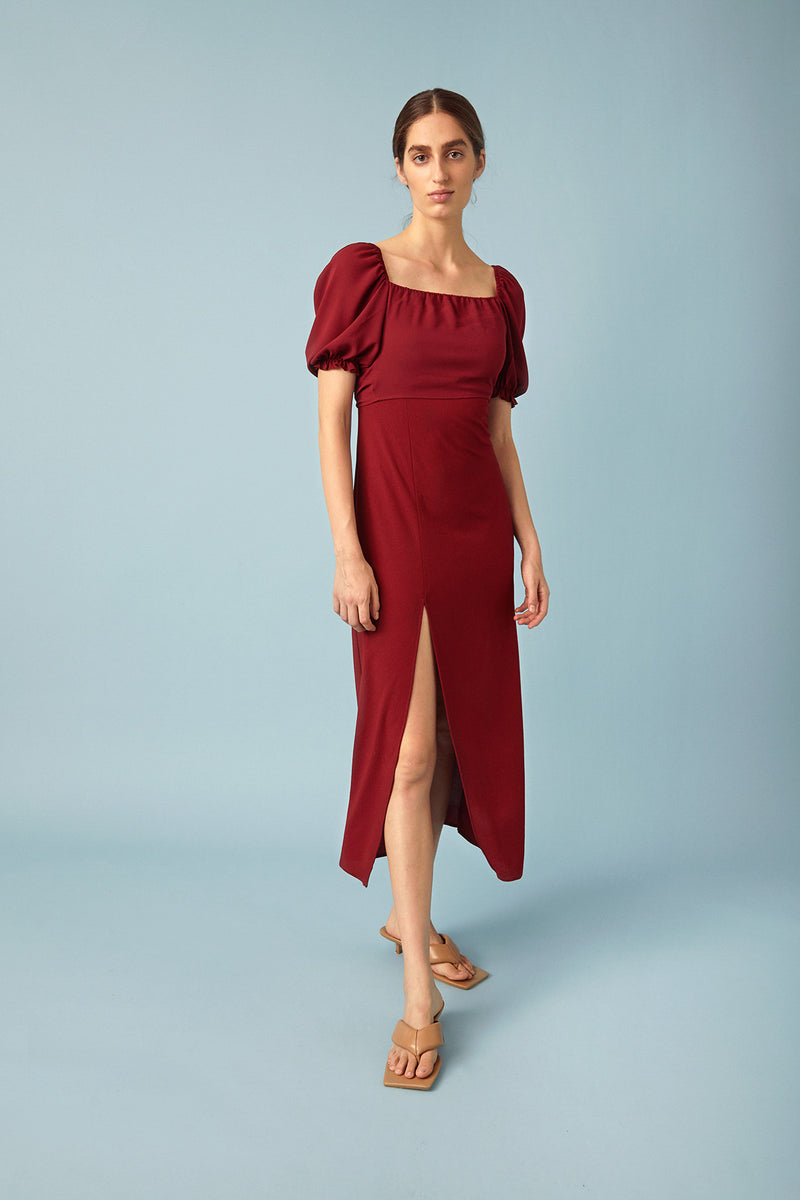 Kate Dress, Burgundy