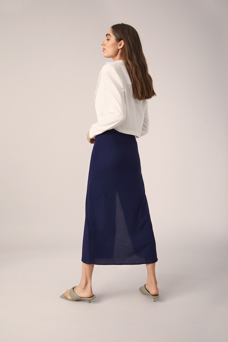 Capri Midi Skirt, Navy
