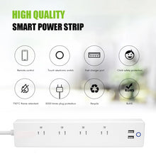 Load image into Gallery viewer, Power Strip 4 Outlet with Surge Protector & USB Ports