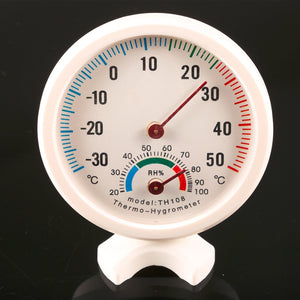 Mini Round Clock-shaped Hygrometer