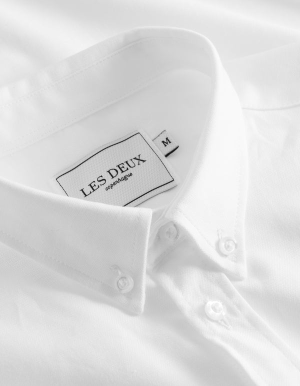 Les Deux MEN Christoph Oxford Shirt Shirt 2020-White
