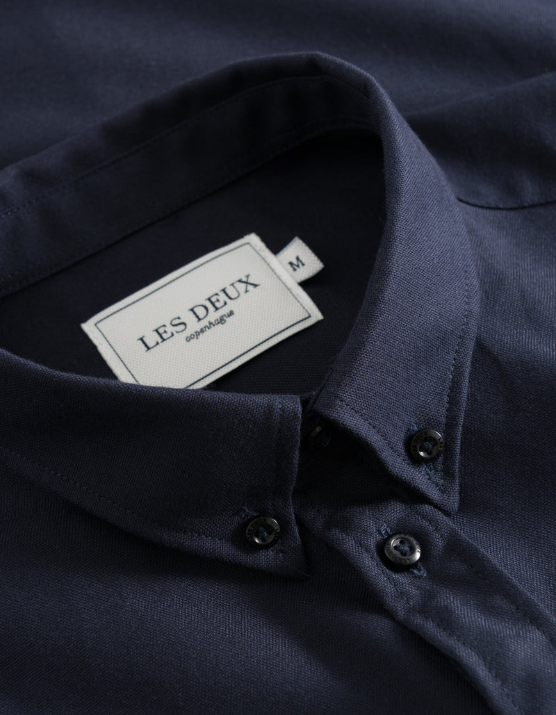 Les Deux MEN Christoph Oxford Shirt Shirt 4646-Dark Navy